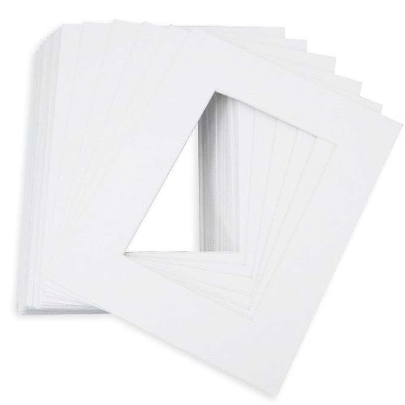 Golden State Art, Pack of 10 8x10 White Picture Mats with White Core Bevel Cut for 5x7 Pictures