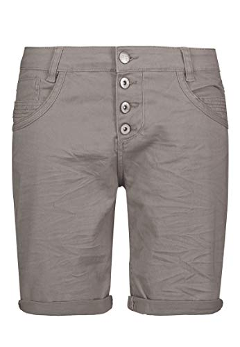 Urban Surface Damen Stoff Bermuda Shorts aus Stretch-Twill Light-Grey S