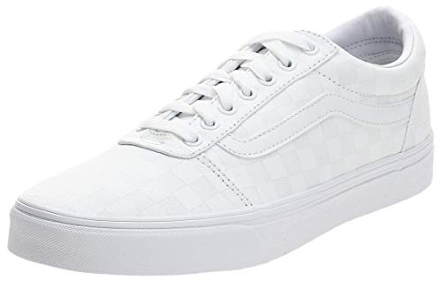 Vans Herren Ward Canvas Sneaker, Weiß Checkerboard White White, 42.5 EU