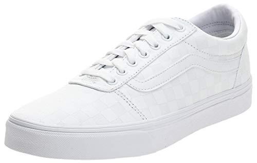 Vans Herren Ward Canvas Sneakers, Weiß ((Checkerboard) White/White W51), 42.5 EU