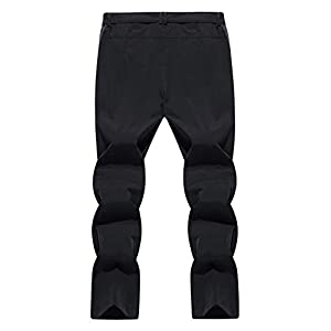 Tacvasen Mens Quick Dry Hiking Pants Water Resistant Lightweight And Ski Fleece Lined Mountain Pants
