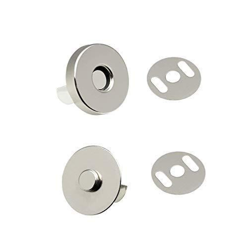 Trimming Shop 14mm Magnetverschluss Verschluss für Nähen Kleidung Reparatur Handtaschen Taschen Basteln DIY Projects, Langlebig Druckknopf Verschluss mit Zwei Metall Rückseite Unterlegscheiben