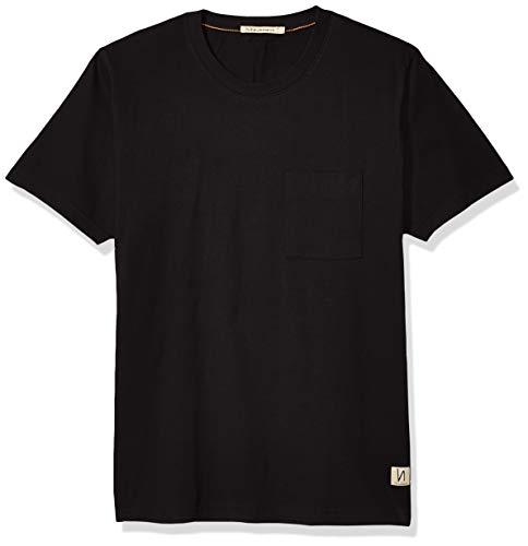 Nudie Jeans Unisex-Erwachsene Kurt Worker Tee T-Shirt, schwarz, X-Klein