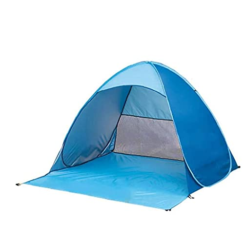 sevenjuly Pop Up Tent, Tienda De Playa De Luz Portátil, Refugio De Sol para 2-3 Personas Hogar Al Aire Libre, Bolsa De Transporte Pegs Tent Blue XL