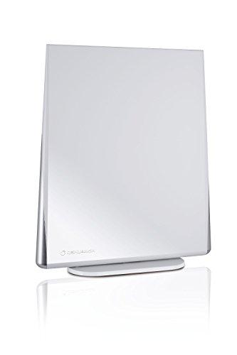 Oehlbach Digital Flat 2.5 | Aktive DVB-T & DVB-T2 HD Antenne mit Omni-direktionalen Empfang | Rauscharm & Abnehmbarer Verstärker - weiß