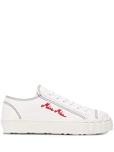 Miu Miu Luxury Fashion Damen 5E970CF0053AVFF0964 Weiss Sneakers  