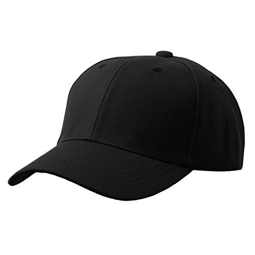 Baseball Cap für Herren Damen | Basecap Unisex Baseball Kappen Baseball Mützen für Draussen Sport oder auf Reisen Trucker Hat (Schwarz)