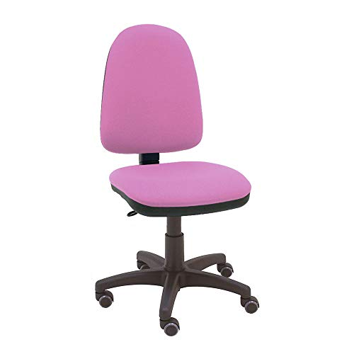 La Silla de Claudia - Silla giratoria de escritorio Torino rosa frambuesa para oficinas y hogares ergonómica con ruedas de parquet