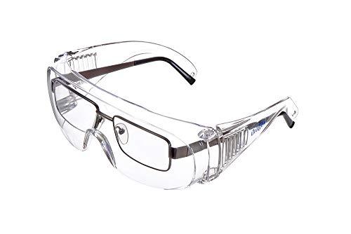 Dräger Schutzbrille X-pect 8110   Überbrille auch für Brillenträger   Für Baustelle, Labor, Werkstatt und Fahrrad-Fahren   Leicht, klar und mit indirekter Belüftung   1 St. - 2