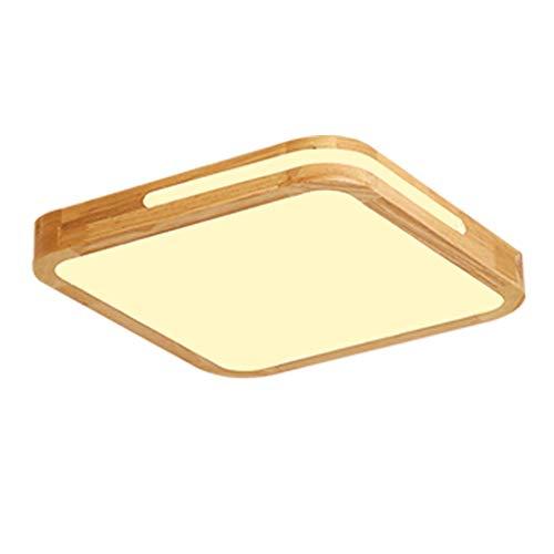 LED Deckenleuchte rund Deckenlampe Holz Deckenbeleuchtung wohnzimmer Hängeleuchte Esszimmer Leuchten für Hängelampe küche bad,Warmlight