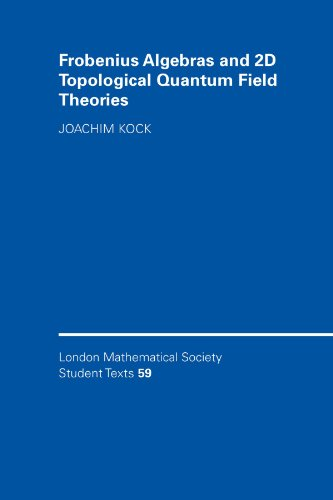 Frobenius Algebras and 2-D Topological Quantum Field Theories (London Mathematical Society Student Texts)