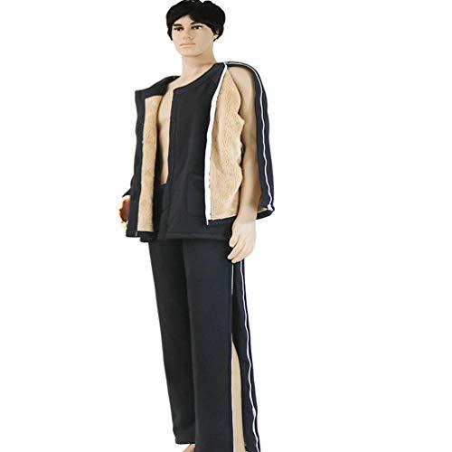 JM-D Clothes Ropa Cuidado Paciente Cremallera Diseño Facil De Vestir Pantalones de cuidados postoperatorios, Fracturas, Incontinencia y Cuclillas, Silla de Ruedas