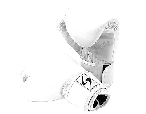 PURE RISE(ピュアライズ) ボクシンググローブ 8オンス 左右セット (ホワイト)