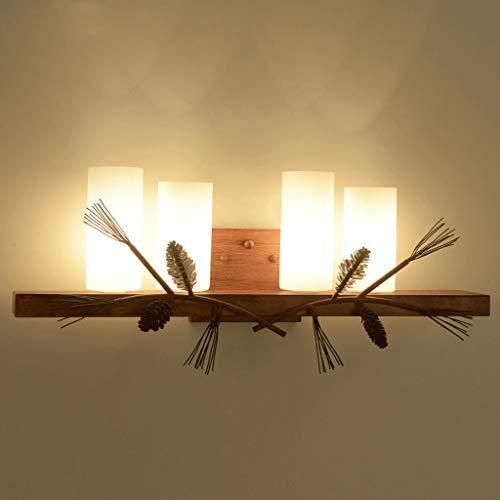 Mobeka American Retro wandlamp gang slaapkamer kaptafel spiegel schijnwerper badlamp glas E14 +A