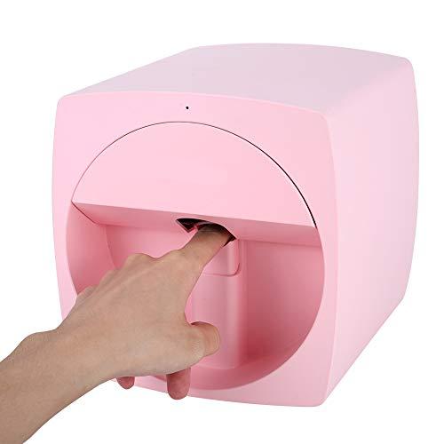 Mavis Laven Stampante per Unghie Stampante per Unghie Stampante per Unghie Intelligente Stampante per Unghie Adorabile Stampante per Unghie Rosa(EU)
