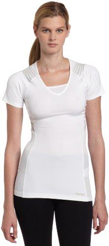 Reebok EasyTone Taped Short Sleeve W05841 Laufshirt Fitness Weiß