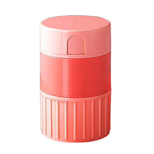 Pill Cutter,Pill Crusher,Pills Cutter Crush Splitter Grinder,Tablets Medicine Slicer Professional for Cutting Oblong Round Small or Large Pills in Half 1/2 1/4 1/8-Pink