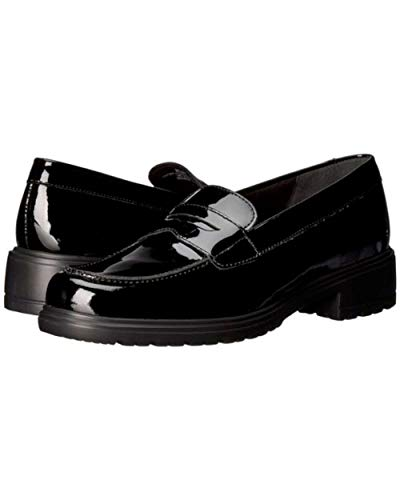 Munro Womens Jordi Leather Closed Toe Loafers, Black/Patent, Size 7.5