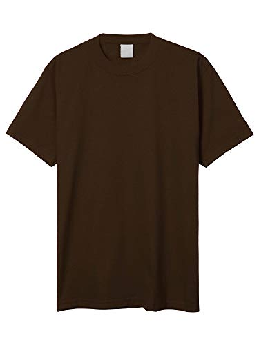 Hat and Beyond Mens Super Max Heavyweight Cotton T Shirt Solid Short Sleeve Tee S-5XL (1ks06_Brown/Small)