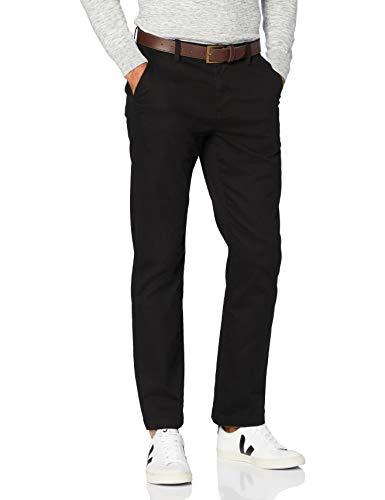 MERAKI Pantalon Chino en Coton Homme, Noir (Black), 38W / 34L, Label: 38W / 34L