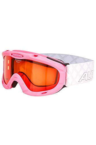 ALPINA Kinder Skibrille Kids Ruby S (Rose-White, Einheitsgröße)