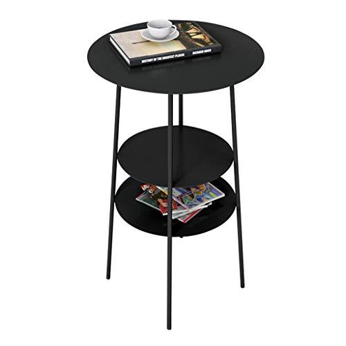 Table Basse en Métal Stockage Multicouche Table Basse Salon Salle De Séjour Peut Accueillir Une Table Basse Simple (Color : Black, Size : 62 * 40 * 40cm)
