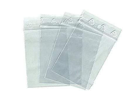 100 SACHETS ZIP 60 X 80 mm, 6x8 cm pour ranger des petites pièces, visses, écrous, piles, pièces détachées, joint, sac plastique fermeture zip étanche de 50 micron :