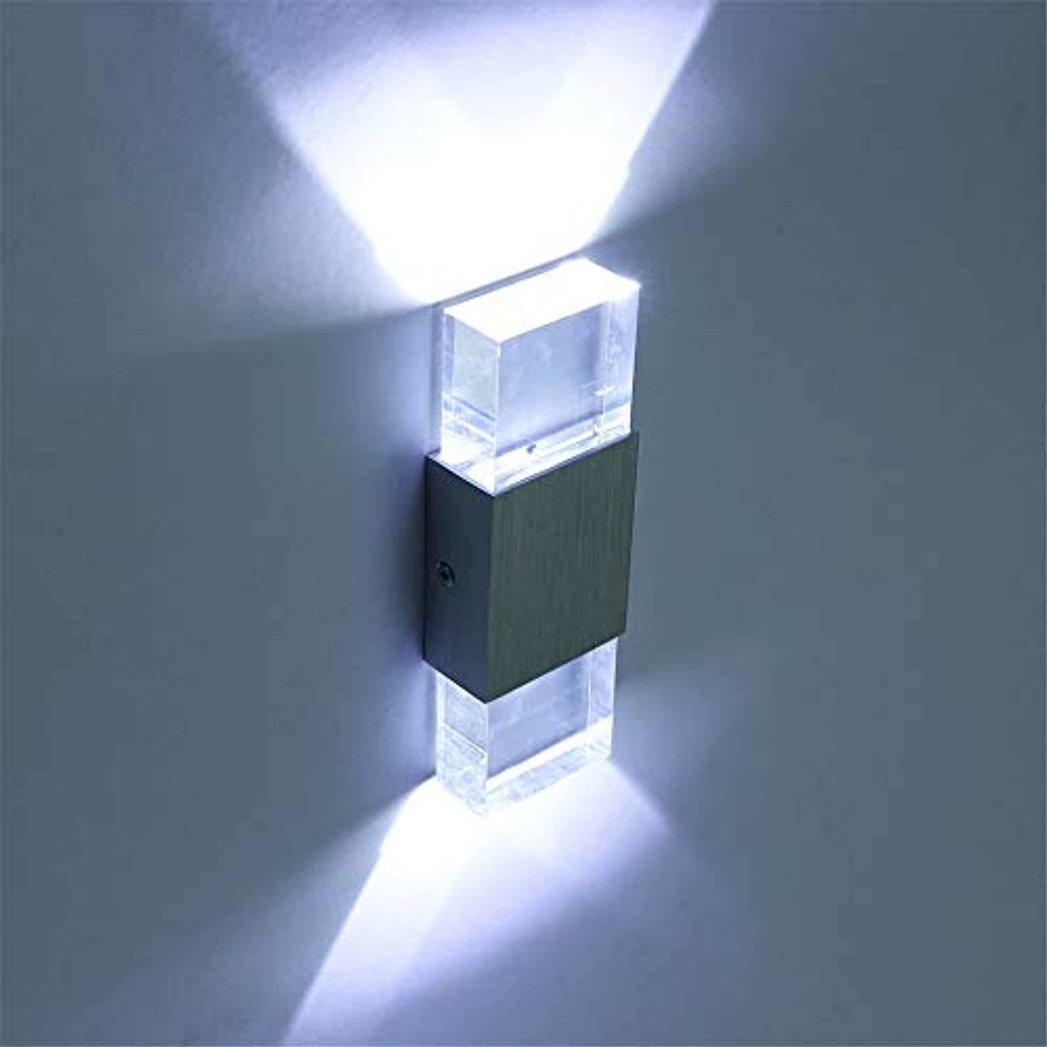 Modern led Wall Lamp Acrylic Bedroom Lamps Stair Lighting wall Light crystal Lamp wall sconce,Warm Weiß,6w