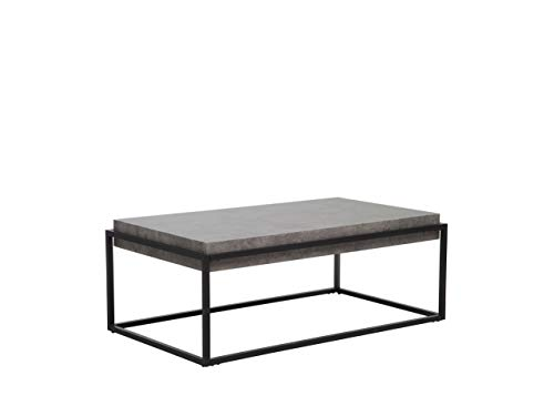 Couchtisch Massive Tischplatte Betonoptik braun Altos