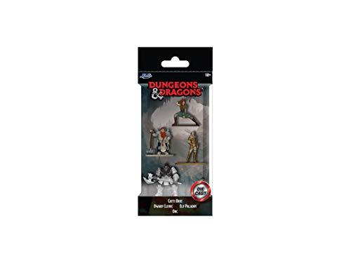 Jada Toys 253251009 Dungeons & Dragons Nanofigs 4er Nano Sammelfiguren aus Die-Cast, Catti Brie Human Fighter, Dwarf Cleric, Elf Paladin, Orc, Spielzeugfiguren, 4 Stück/Set, 4 cm, ab 12 Jahren