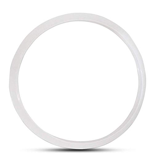 Delisouls Silicona Anillo Sellador, Junta Can Be Sustituido con Térmico , Blanco Transparente Cocina Olla de Presión Herramienta , para Eléctricas Ollas a Presión - 22cm