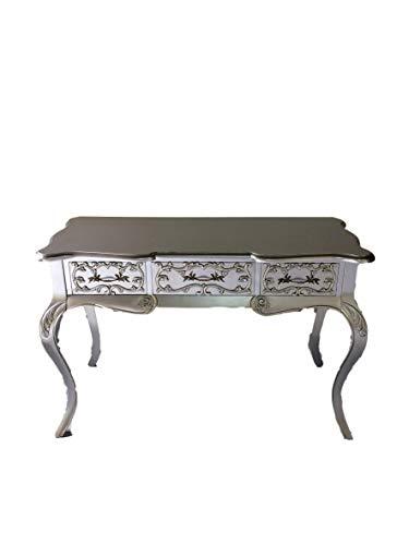 Kunibert Barock Louis Seize Renaissance Rokoko Sekretär Farbe:Silber Schreibtisch Schminktisch Länge122xHöhe79xBreite51cm Nr.4