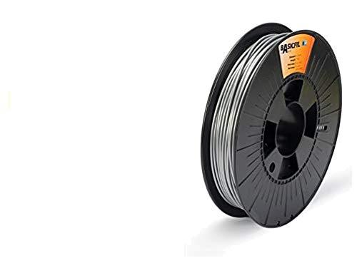 BASICFIL PLA  2.85mm, 500 gr, 3D printing filament , Silver