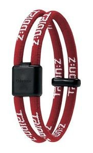 Trion Z Dual Loop Magnetic Wristband Bracelet (Red, Small)