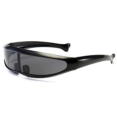NSGJUYT Al Aire Libre de la Motocicleta Gafas Anti-UV de protección Ocular Gafas de Sol Gafas Accesorios de Bicicletas (Color : Black)