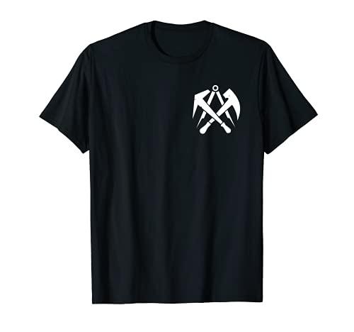 Herren Dachdecker Symbol I Zunft Wappen Motiv für Dachdecker T-Shirt
