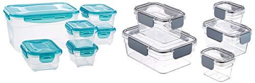 Amazon Basics - Tritan-Frischhaltedose mit Verschluss (5 dosen + 5 deckeln) & 6 pcs Food Storage Set