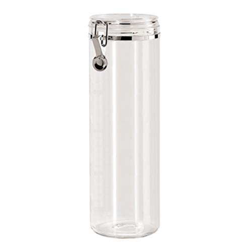 "Oggi Acrylic Airtight Pasta Canister with Clamp, 4""Dia. x 12""H."