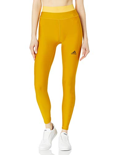 adidas Women's Alphaskin Long Tight Cold.RDY, Legacy Gold, 3X