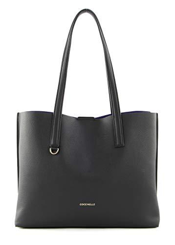 COCCINELLE Matinee Large Shoulder Bag Noir/Curacao