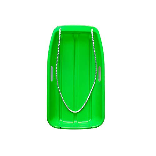 Gentlecarin Snow Sled, Toboggan Snow Sled Outdoor Plastic Snow Sled 2 Handles for Unisex Kids Adult Toboggan Sled Downhill