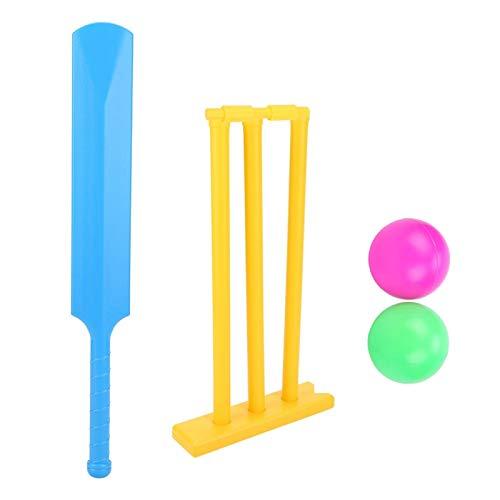 Drfeify Juego de críquet de jardín, con tocones de murciélago y Bolsa de Transporte, Juego de Mesa Interactivo, Juguete Deportivo de Cricket, Regalo para niños 2 Jugadores