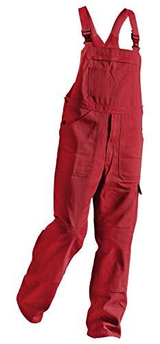 KÜBLER QUALITY DRESS Arbeitslatzhose rot, Größe 66, Herren-Arbeitslatzhose aus Baumwolle, Arbeitslatzhose mit Knieschutztaschen nach EN 14404, bequeme Arbeitslatzhose von KÜBLER Workwear