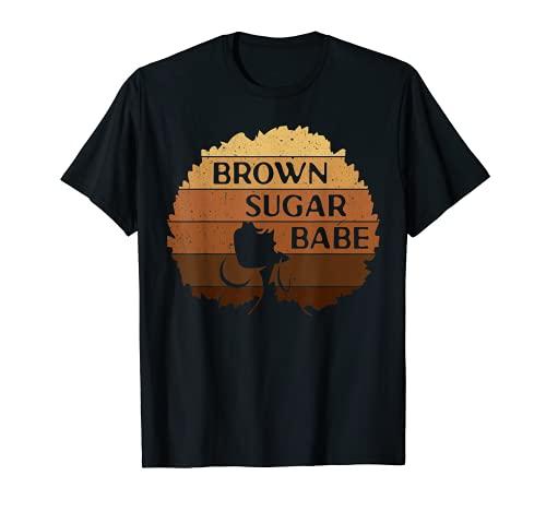 Brown Sugar Babe Camisa Melanin African Black Pride Mujeres Camiseta