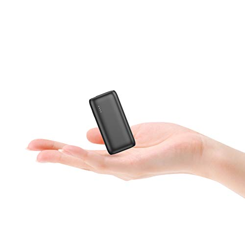 Powerbank PD 18W, BABAKA 5000mAh Mini Kompakter USB C Externer Akku Power Bank mit Power Delivery Schnellladefunktion Klein und Leistungsstark für Handy Samsung Huawei Tablet und Mehr- Schwarz