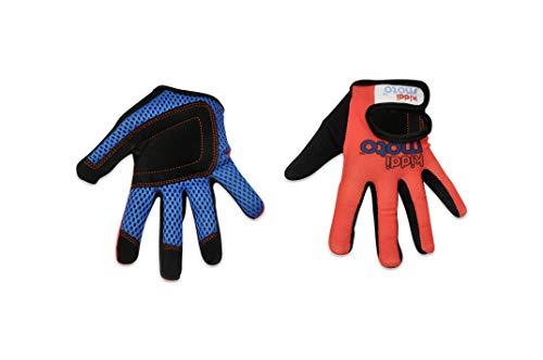 KIDDIMOTO Fahrradhandschuhe für Kinder, mit Fingern, Rot, Größe L, 8–12 Jahre