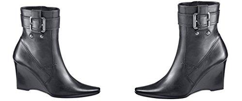 Gianni Gregori 150603 Damenschuhe Stiefeletten Boots, EU 42 UK8 Schwarz, Leder