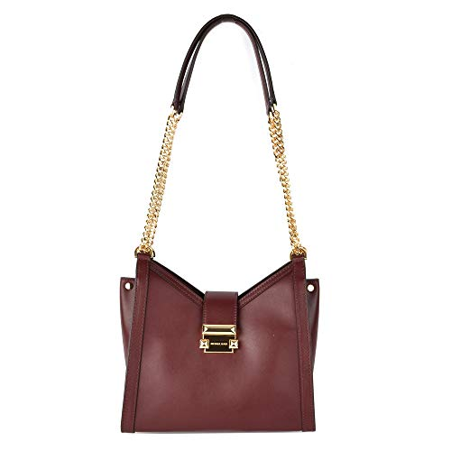 Michael Kors piccolo Whitney oxblood borsa a tracolla in pelle Burgundy Leather