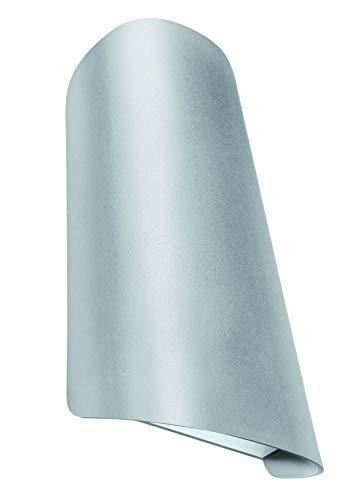 GEV Cassandra Applique murale extérieure à LED avec faisceau fin et large Protection IP65 750 lm 3000 K Éclairage blanc chaud Aluminium 11 W Gris argenté 5 x 10,6 x 17,5 cm