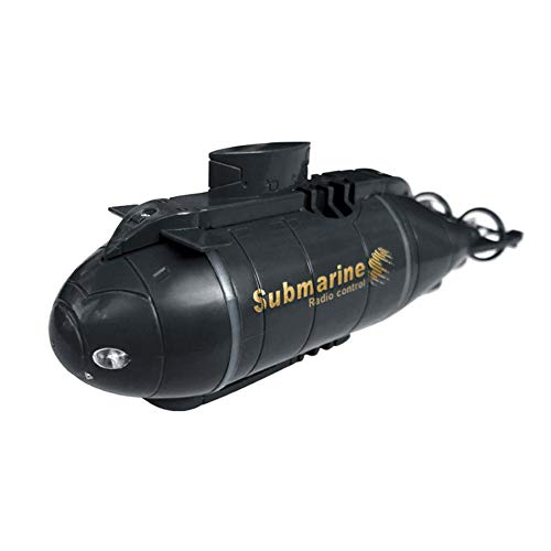 Buy Discount Mini RC Submarine Boat- Remote Control Ship with Lighting, Smart Electric Submarine Boat Simulation Waterproof Diving Toy for Children Gift Black